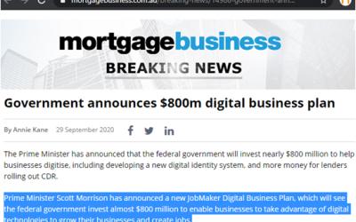 Government $800m digital business plan
