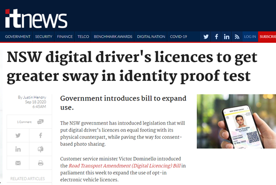 NSW Digital Drivers Licence Bill