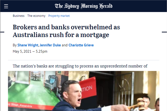 Brokers and Banks Overwhelmed